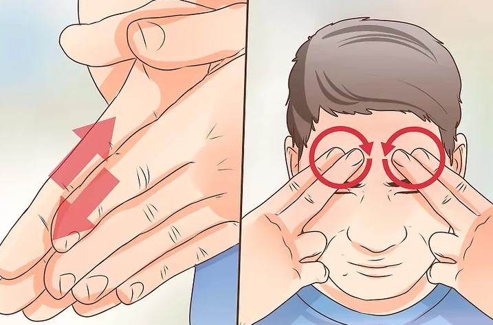 Hướng dẫn massage vùng xoang và mắt
