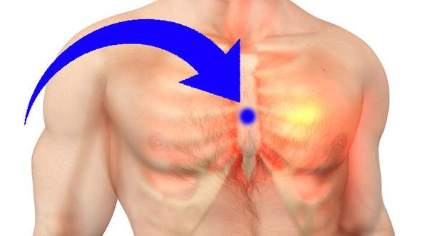 Bấm huyệt đản trung phòng trị bệnh tim đập nhanh
