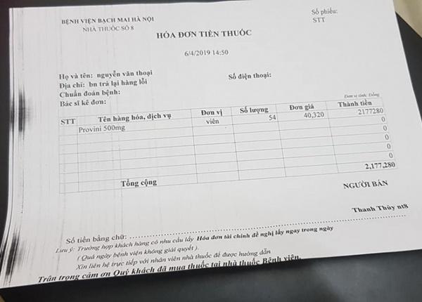"""Sau khi khiếu nại, quầy thuốc đã trả lại tiền cho thuốc anh Thoại đã mua với nội dung là """"hàng lỗi"""". Ảnh: NVCC."""