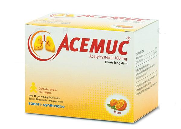 Acemuc điều trị các bệnh về đường hô hấp,