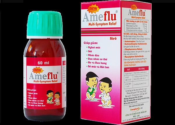 Thuốc Ameflu MS giảm các triệu chứng sung huyết mũi