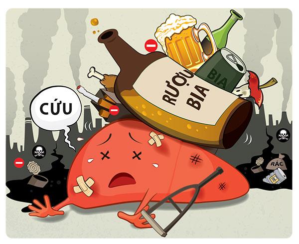 Tác hại của rượu bia đến sức khỏe