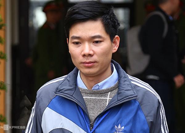 Hoàng Công Lương tại phiên sơ thẩm hồi đầu năm 2019. Ảnh:Phạm Dự.