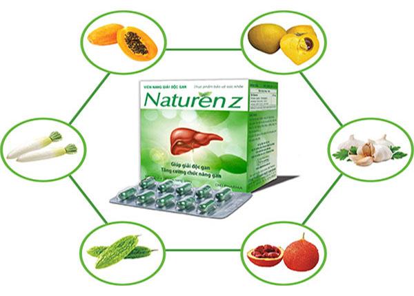 Thuốc Naturenz được sử dụng trong hỗ trợ chức năng gan