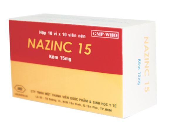 Viên uống bổ sung kẽmNazinc 15