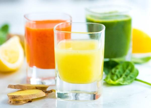 Các loại nước ép trái cây, rau củ tươi
