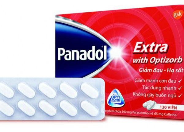 Panadol Extra chứa paracetamol là một chất hạ sốt, giảm đau