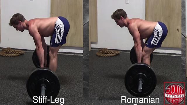 Stiff leg và Romanian Deadlift