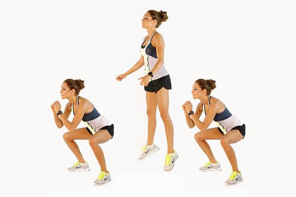 Squat nhảy giúp giảm mỡ hiệu quả