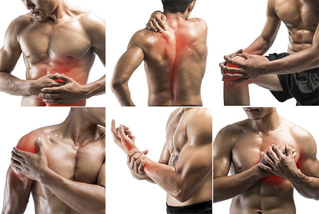 Đau nhức cơ bắp sau khi tập Gym