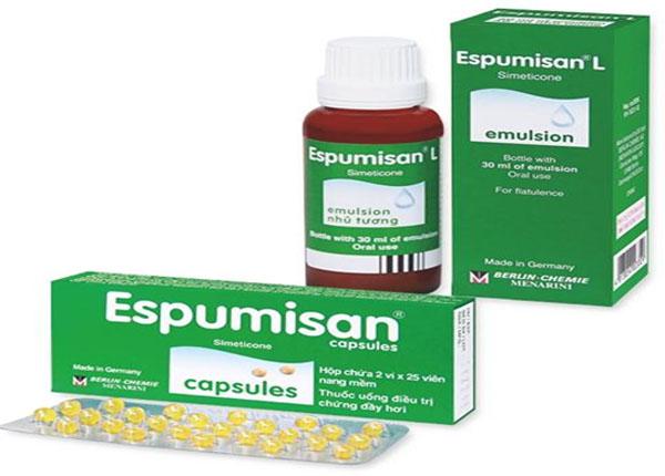 Thuốc Espumisan làm giảm các triệu chứng đầy hơi dạ dày