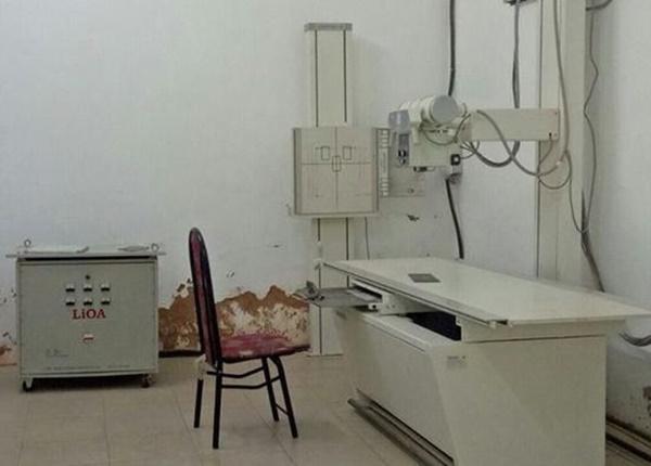 Phòng chụp X-Quang nơi xảy ra vụ việc.