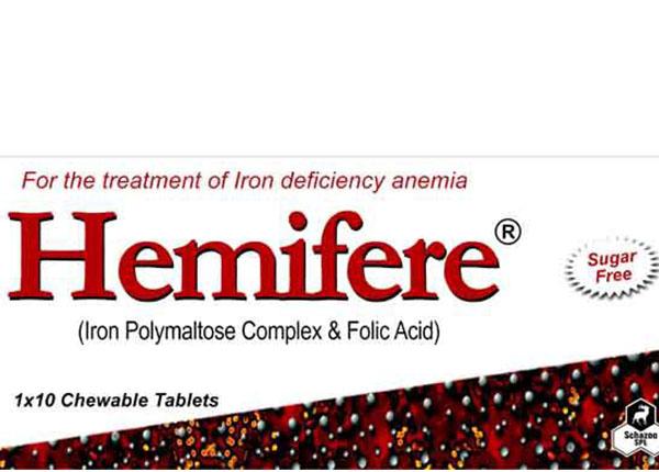 Hemifere 100mg điều trị và dự phòng các loại thiếu máu do thiếu sắt