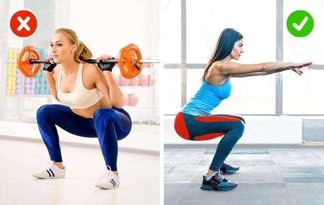 Lưu ý khi thực hiện squat để không bị đau lưng