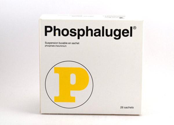 Phosphalugel dùng cho bệnh nhân viêm loét dạ dày.
