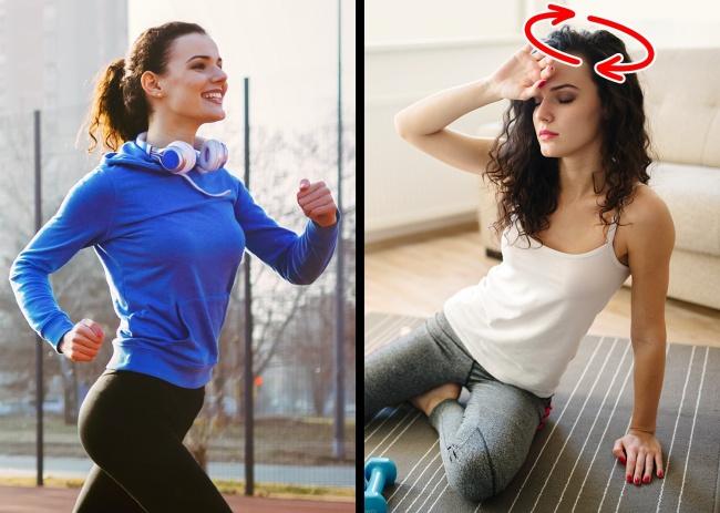 Hoa mắt chóng mặt khi tập Gym