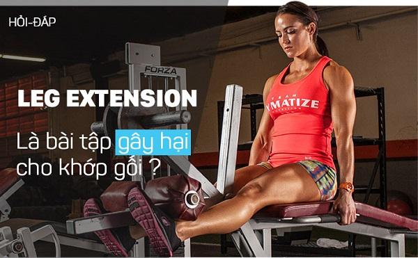 Bài tập Leg Extension có thực sự gây hại tới khớp gối?