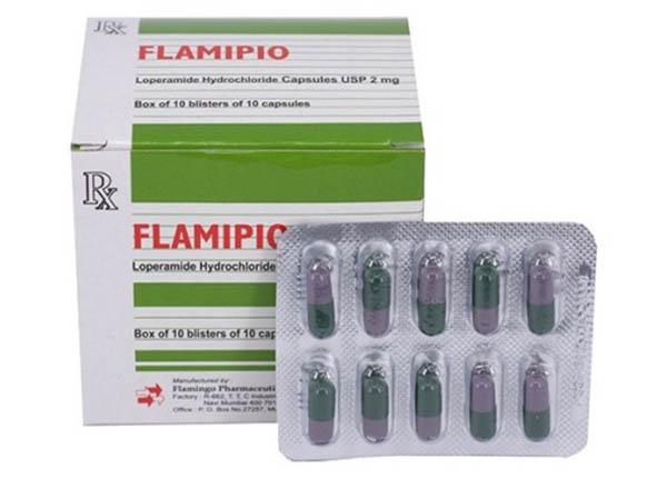 Flamipio là thuốc nhóm tiêu hóa, được dùng điều trị tiêu chảy