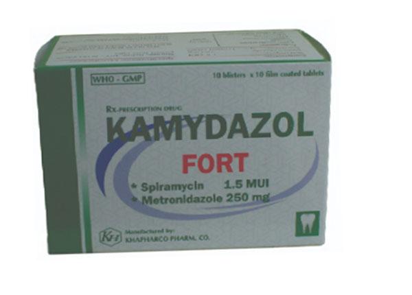 ThuốcKamydazol trịNhiễm trùng răng miệng cấp, mạn tính