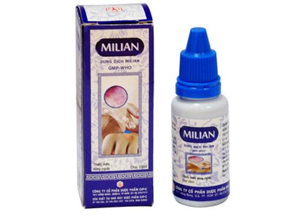 Thuốc Milian được sử dụng để điều trị các bệnh da liễu do nhiễm virus
