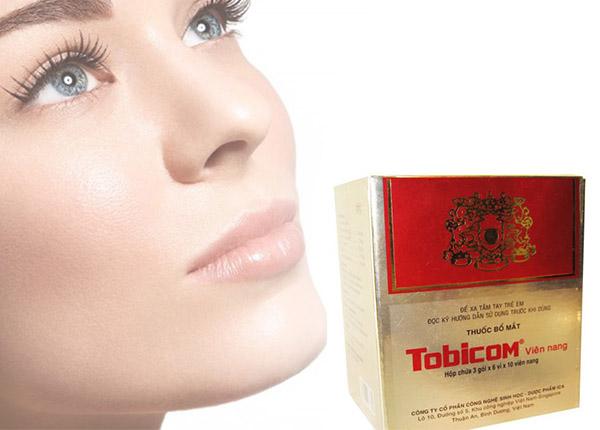 Tobicom điều trị mỏi mắt, đau nhức mắt, quáng gà.